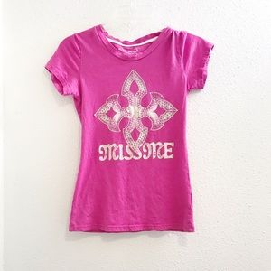 Miss me brand kids youth large shirt top in pink